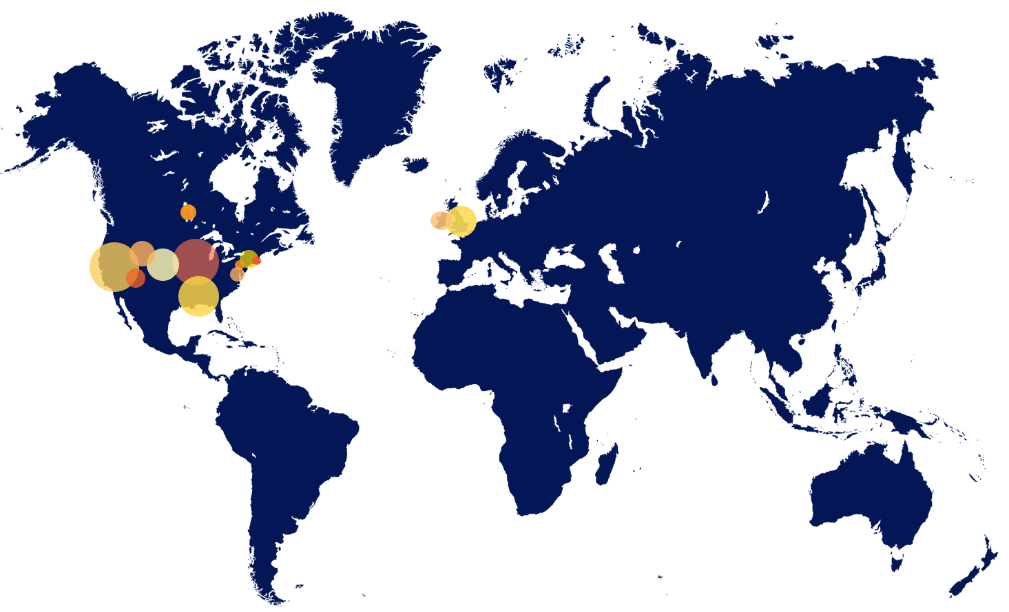 Map of our Reach 2015